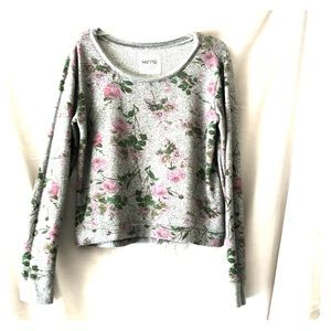 Kirra Long Sleeve SuperComfy Flower Print Sweater